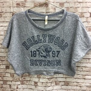 Mind Code Crop Top Jersey Hollywood 1897 Division